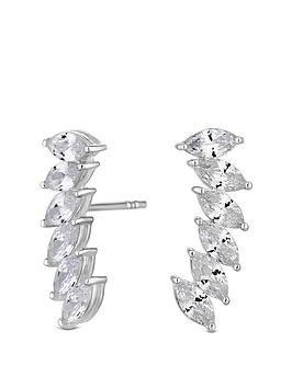 simply-silver-cubic-zirconia-marquise-ear-climber-earrings
