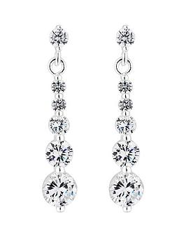 Simply Silver Simply Silver Silver Cubic Zirconia Graduated Drop Earrings Picture