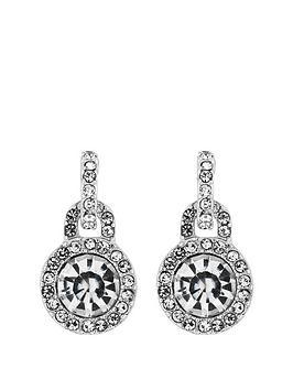 Mood Mood Silver Crystal Door Knocker Stud Earrings Picture