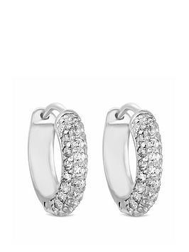Simply Silver Cubic Zirconia 10Mm Hoop Earrings
