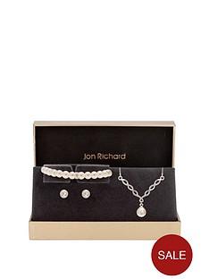 jon-richard-twist-pearl-with-stretch-bracelet-trio-jewellery-set