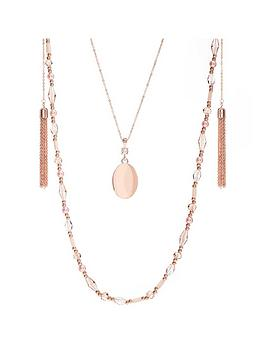 Mood Mood Pendant Bead Rope Tassel Layered Necklace Picture