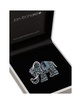 Jon Richard Jon Richard Blue Tones Pave Elephant Picture