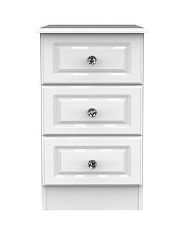 Swift Clarence Ready Assembled 3 Drawer Bedside Chest