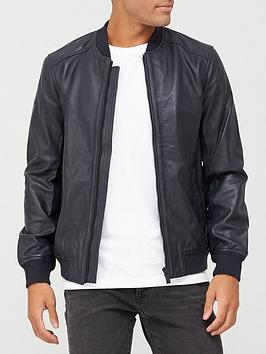 superdry-leather-light-bomber-jacket-navy
