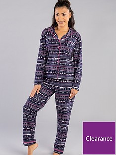boux-avenue-navy-fairisle-pj-in-a-bag