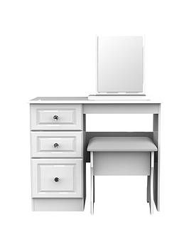 Swift Swift Clarence Ready Assembled Desk, Mirror And Stool Set Picture