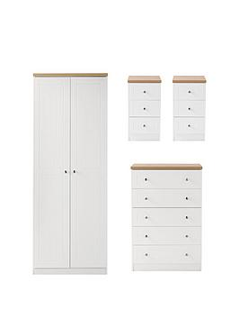 swift-naplesnbspreadynbspassembled-4-piece-package-2nbspdoornbspwardrobe-5-drawer-chest-and-2-bedside-chests