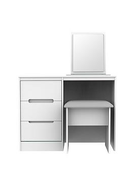 Swift Swift Toronto Ready Assembled Dressing Table, Mirror And Stool Set Picture