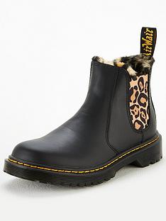 dr-martens-girls-leonore-animal-faux-fur-lined-chelsea-boots-black