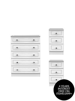 swift-clarence-3-piece-ready-assembled-package--nbsp5-drawer-chest-and-2-bedside-chests