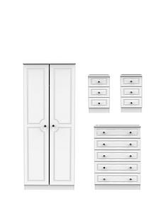 swift-clarence-4-piece-ready-assembled-package-2-doornbspwardrobe-5-drawer-chest-and-2-bedside-chests