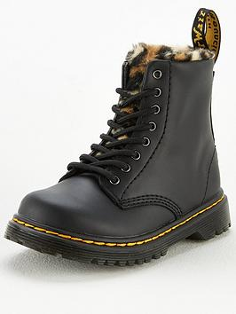 dr-martens-girls-1460-serena-animal-faux-fur-lined-lace-boots-black
