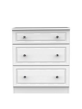Swift Clarence Ready Assembled 3 Drawer Chest