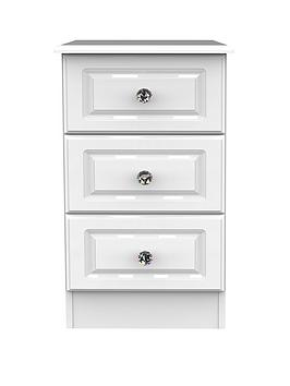 Swift Swift Clarence Ready Assembled 3 Drawer Bedside Chest With  ... Picture