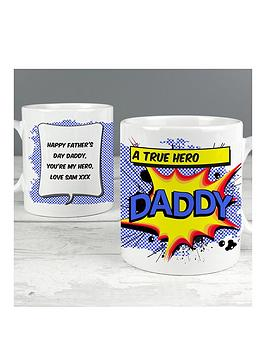 Very Personalised Daddy Comic Book Mug Picture