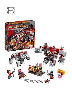 lego-minecraft-21163-the-redstone-battle-with-golem-and-monster-figures