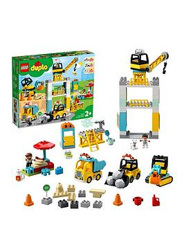 LEGO DUPLO Lego Duplo 10933 Duplo Town Tower Crane With 5 Duplo Figures  ... Picture