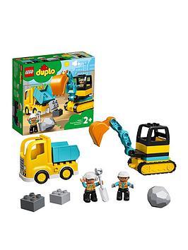 LEGO DUPLO Lego Duplo 10931 Construction Truck &Amp; Tracked Excavator Picture