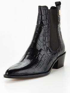 barbour-international-zara-leather-pointed-toe-ankle-boot-black