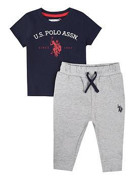 U.S. Polo Assn. U.S. Polo Assn. Baby Boys Uspa Graphic T-Shirt And Jog Set  ... Picture