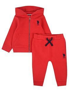 us-polo-assn-baby-boys-core-zip-through-sweat-set-red