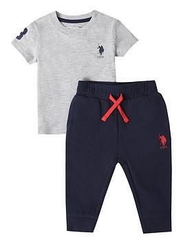 U.S. Polo Assn. U.S. Polo Assn. Baby Boys Player 3 Tee And Jogger Set  ... Picture