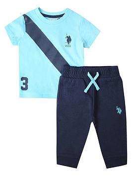 U.S. Polo Assn. U.S. Polo Assn. Baby Boys Uspa Players Tee And Jog Set -  ... Picture