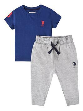 U.S. Polo Assn. U.S. Polo Assn. Baby Boys Player 3 Tee And Jogger Set -  ... Picture