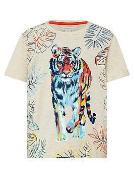 Monsoon Monsoon Boys Oatmeal Tiger T-Shirt - Oatmeal Picture