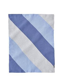 silver-cross-blue-stripe-knit-blanket