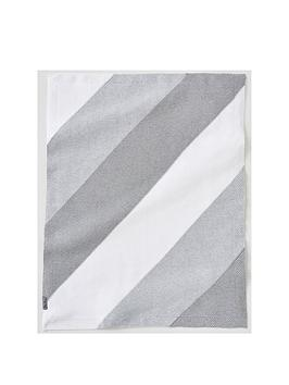 silver-cross-grey-stripe-knit-blanket