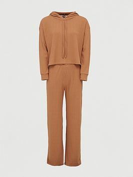 V by Very V By Very Ribbed Boxy Hoody Co-Ord Set Picture