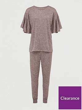 v-by-very-fluted-sleeve-tee-co-ord-set