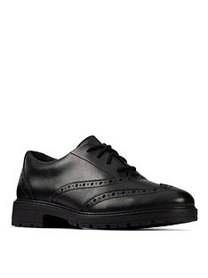 clarks-youth-loxham-lace-up-brogue-black