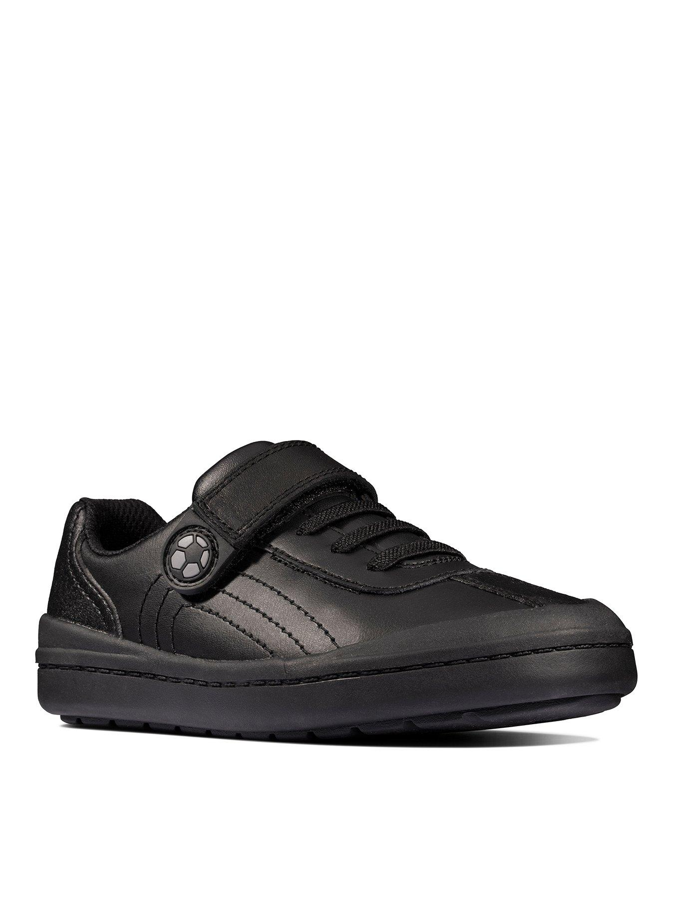 Clarks Rock Pass Toddler Black Leather Shoes SIZE-12 fit-F