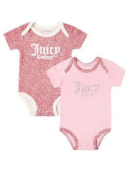 Juicy Couture   Baby Girl 2 Pack Body Suit