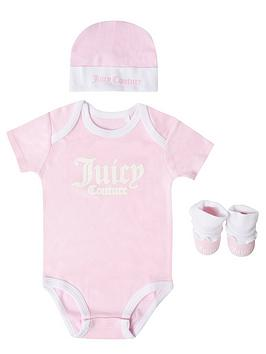 Juicy Couture Juicy Couture Baby Girls 3 Piece Body Suit Set Picture