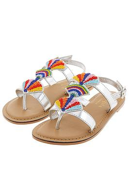 Accessorize   Girls Beaded Fan Sandals - Multi