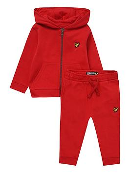 Lyle & Scott Lyle & Scott Toddler Boys Hoodie And Jog Pant Set - Red Picture