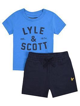 Lyle & Scott Lyle & Scott Toddler Boys T-Shirt And Short Set - Blue Picture