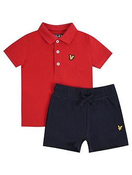 Lyle & Scott Lyle & Scott Toddler Boys Polo And Short Set - Red Picture