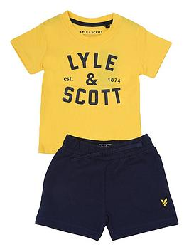 Lyle & Scott Lyle & Scott Toddler Boys T-Shirt And Short Set - Yellow Picture