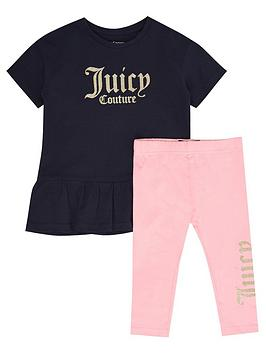 Juicy Couture Juicy Couture Toddler Girls Dress And Legging Set - Black  ... Picture