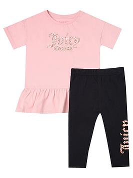 Juicy Couture Juicy Couture Toddler Girls Dress And Legging Set - Pink  ... Picture