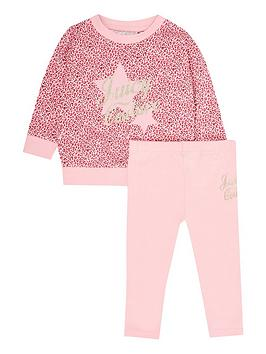 Juicy Couture Juicy Couture Toddler Girls Sweat And Legging Set - Pink Picture