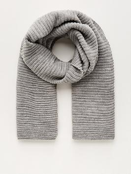v-by-very-knitted-rib-scarf-grey