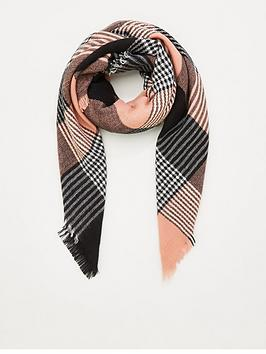 v-by-very-check-scarf-pinkblack
