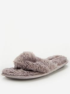 v-by-very-winoa-fauxnbspfur-toe-post-slipper-grey