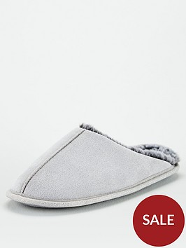 v-by-very-whist-fauxnbspfur-lined-mule-slippers-grey